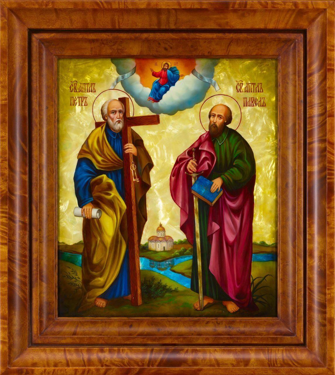 """Икона  """"Святые апостолы Петр и Павел """" ."""